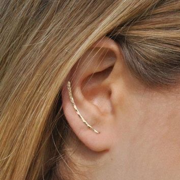Handmade Cuff Climber Bar Pin Earring