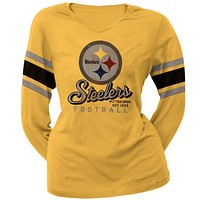 Pittsburgh Steelers - Homerun Premium Juniors Long Sleeve T-Shirt
