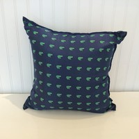 "Frog Pillow 16"" x 16"" - Navy"