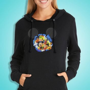 Disney Silhouettes Mickey Mouse And Frieds Women'S Hoodie