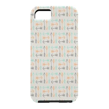 Allyson Johnson Peachy Arrows Pattern Cell Phone Case