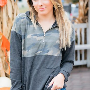 Charcoal Camo pullover