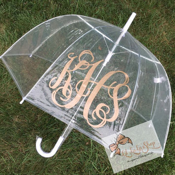 Personalized Adult Clear Umbrella