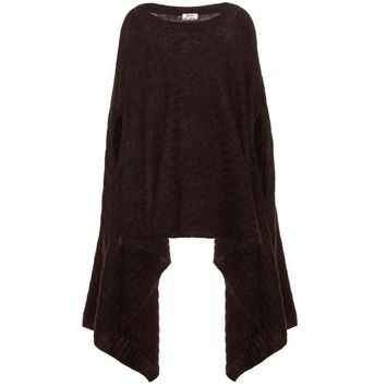 acne studios - dreamy mohair and wool-blend poncho