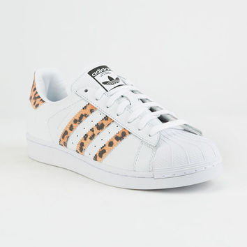 ADIDAS Superstar White & Cheetah Womens Shoes