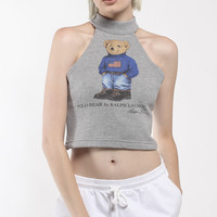 Vintage Re-Work Polo Bear Halter