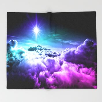 Cool Tone Ombre Clouds Throw Blanket by 2sweet4words Designs