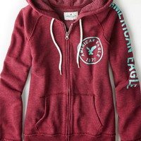 AEO Women's Graphic Zip-up Hoodie