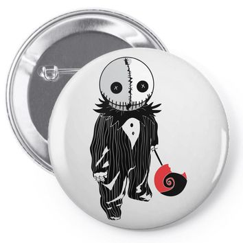 creepy doll trick or treat Pin-back button