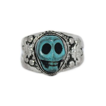 Adjustable Ring Skull Ring Handmade Ring Tibetan Ring Tribal Ring Gypsy Ring RB241