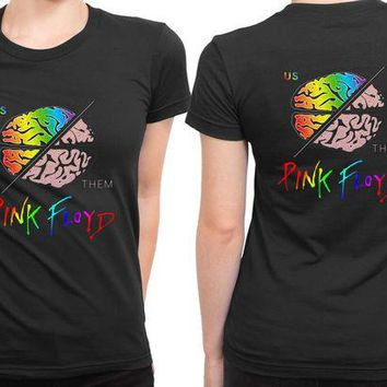 DCCKG72 Pink Floyd Brain 2 Sided Womens T Shirt