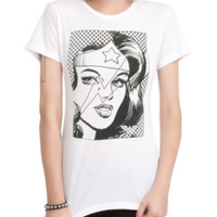 DC Comics Wonder Woman Line Art Girls T-Shirt