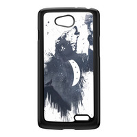 Wolf Song 3 Black Hard Plastic Case for LG L70 by Balazs Solti