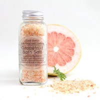 Uplifting Pink Grapefruit Himalayan Bath Salt 4 oz jar Detoxifying  / Spa Gift Bath Salt / Pink Salt  Detox Natural bath and beauty