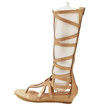 women's shoes woman Sexy Tall cool boots barreled sandals summer style boots