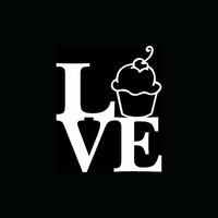 Love Stack Cupcake Decal
