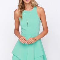 Hold Me Closer Mint Dress
