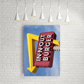 IN N OUT BURGER FUNNY ARTWORK POSTERS