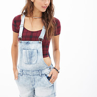 FOREVER 21 Denim Days Overall Shorts