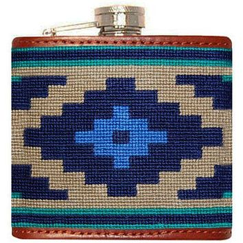 Gaucho Needlepoint Flask in Dark Khaki by Smathers & Branson