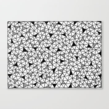 abstract triangle pattern Canvas Print by Anna Grunduls