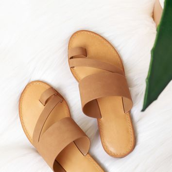 Thick Strap Sandal Light Tan
