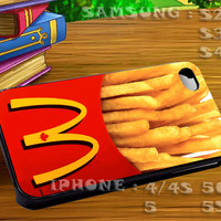 McDonalds French Fries For iphone 4 iphone 5 samsung galaxy s4 / s3 / s2 Case Or Cover Phone.