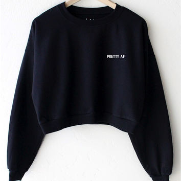Pretty AF Cropped Sweater