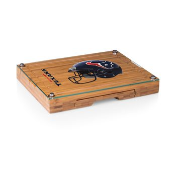 Houston Texans - Concerto Glass Top Cheese Board & Tools Set