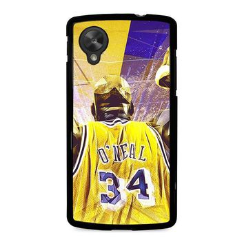SHAQUILLE O'NEAL LA LAKERS Nexus 5 Case Cover