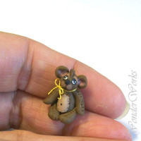 Teddy Bear Brown - Handsculpted OOAK 1/12 Scale Toy