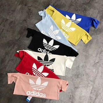 Adidas Originals Classic Trefoil Unisex Summer Short Sleeve T-Shirt Pullover Top High Quality I