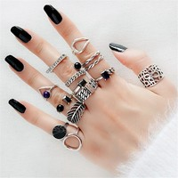 Knuckle Ring Real 925 Silver Boho Jewelry Vintage Minimalism Joyas Haut Femme Bague Femme Aneis Punk Rings for Women Anillos