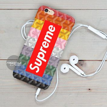Goyard Rainbow Supreme iPhone Case Cover Series
