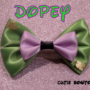 Dopey Hair Bow Snow White Disney Inspired