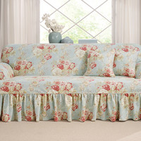 Sure Fit - Ballad Bouquet One Piece Slipcovers