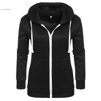 FANALA Winter Autumn Hoodies Women Tracksuit Hoodies Sweatshirts Women Long Sleeve Sweatshirts Women Thick Tops Zip Jacket