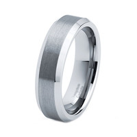 Men's Tungsten Ring Mens Wedding Band Brushed Custom Tungsten Ring 6mm Tungsten Ring Man Wedding Band Tungsten Wedding Band Men Wedding Ring