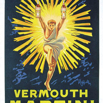 Vermouth Martini Vintage Ad Poster by Leonetto Cappiello