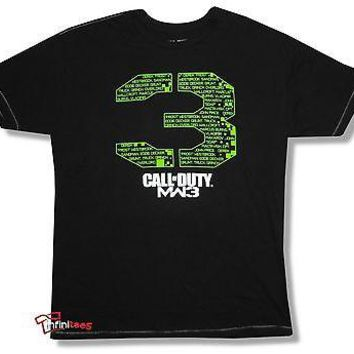 """Call of Duty MW3 """"NAMES"""" Officially Licensed Adult Men's T-Shirt"""