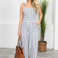 Summer City Striped Culotte Jumpsuit
