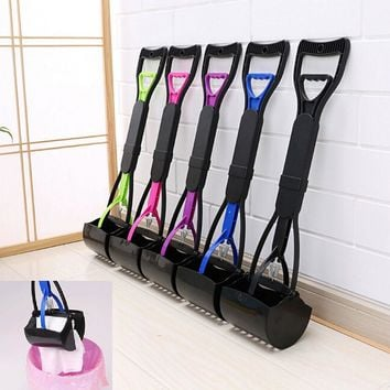high quality hot long handle dog cat pet pooper scooper jaw poop scoop clean pick up waste new arrival popular designed