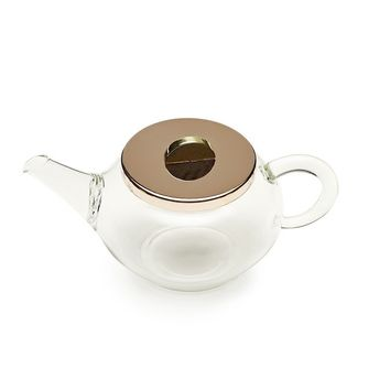 Glass Teapot with Copper Lid
