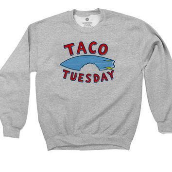 Taco Tuesday - Sweatshirt - Heather Grey