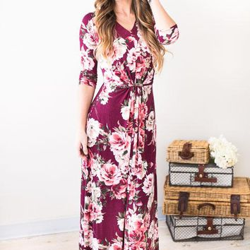 Fall Florals Maxi Dress