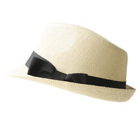 Straw Bow Embellished Fedora | Shop Accessories at Wet Seal