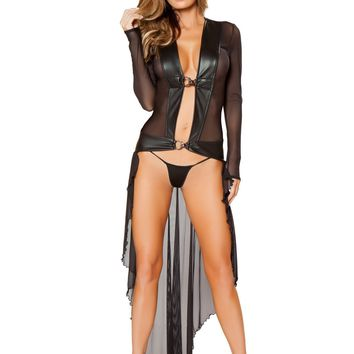Sheer Robe with Hooks & GString