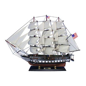 Wooden USS Constitution Tall Model Ship 32""