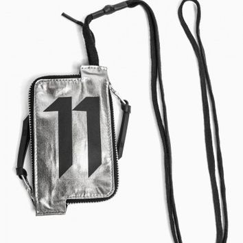 Neck wallet from the S/S2015 Boris Bidjan Saberi 11 collection in chrome.