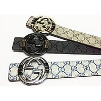 GUCCI Fashion New More Letter Leather Couple Belt